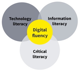 digital literacy at Swinburne - diagram